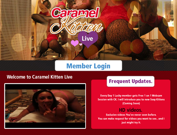 Caramel Kitten Live Join With ClickandBuy