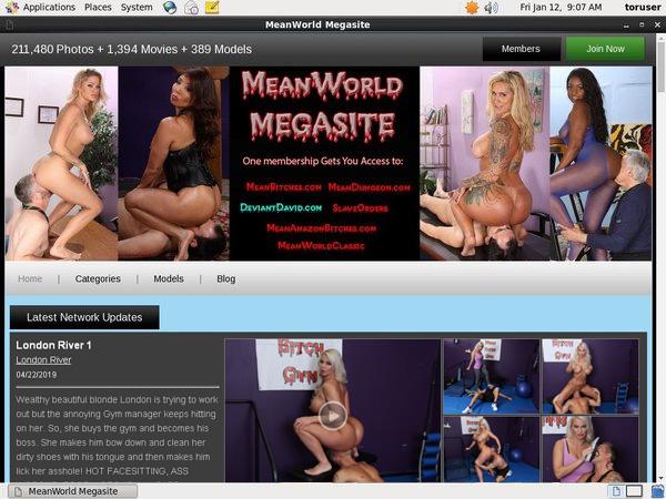 Meanworld Discount Login